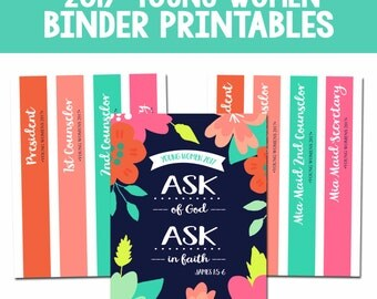 2017 Young Women/Mutual Theme Binder Covers & Spines-Instant Download Printables-DIY-LDS
