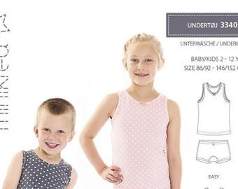 Minikrea Sewing Pattern 33405 Underwear for Kids 2 -12 Years