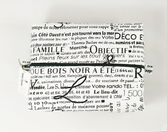 French Toiletry Bag canvas dopp bag dopp kit bag wash bag france canada louisiana vegan gift for her make up bag zipper cosmetic case woman