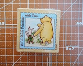 Winnie the Pooh Postage For Two Rubber Stamp by All Night media 761D
