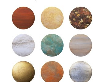 Hand Painted Knob - Custom Hand Painted Wood Metal Stone Faux Finish Drawer Knobs Pulls or Nail Covers
