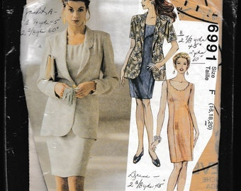 McCall's 6991 Misses' Unlined Jacket and Dress