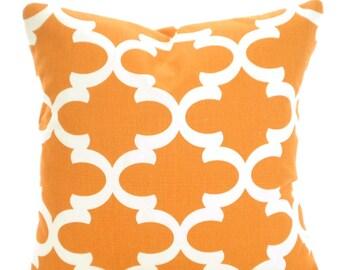 Orange Cream Pillow Covers, Decorative Pillows,Throw Pillow, Cushions Orange Cream Moroccan Fynn Euro Sham, Couch Bed Sofa, One ALL SIZES
