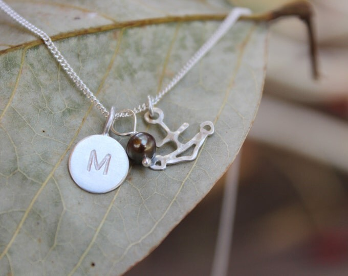 Driftless - Anchor and Initial Necklace