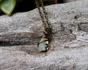 PETITE Topaz Necklace -  Raw Gemstone Jewelry - Natural Topaz Jewelry - Rough Stone Necklace - Bohemian Jewelry - Boho Chic Gypsy Necklace