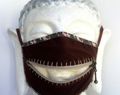 Camou zippermask for Burning Man dust storms and playing army doctor