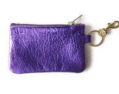Leather coin purse, Leather pouch, Leather zipper change purse, Gift for her, Bridemaids gift