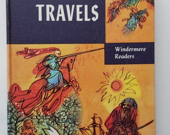 Gulliver's Travels by Jonathan Swift, Windermere Readers, Vintage Children's Book, 1956,