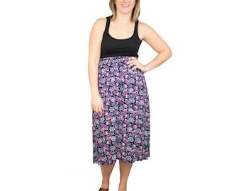 Burst & Bloom Midi Skirt