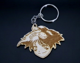 Wooden Edward from Cowboy Bebop Keychain