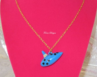 Custom Legend of Zelda Ocarina of Time Pendant Necklace  - Ready To Ship