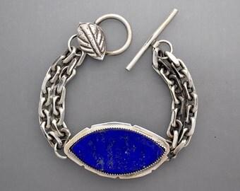 Lapis Chain Bracelet