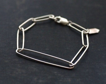 Handmade Sterling Silver Chain Link Bracelet