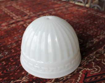 Antique Brascolite Milk Glass Dome Glass for Hanging Ceiling Light Fixture