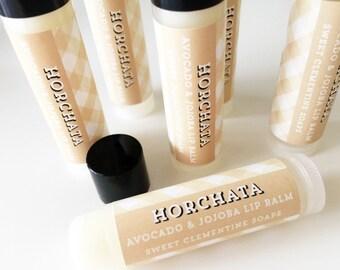 Horchata Lip Balm, Moisturizing Avocado and Jojoba Oil Lip Balm, Avocado Oil, Jojoba Oil, Cinnamon Latte Lip Balm