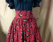 Steampunk Lolita Goth style Christmas Holidays Skirt