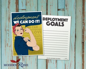Deployment Goals Card - Featuring Rosie the Riveter