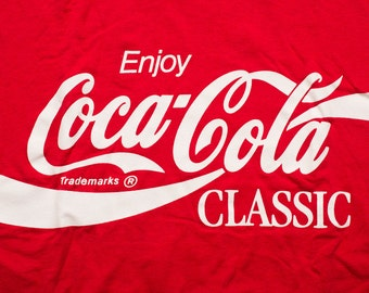 Coca-Cola Classic T-Shirt, Screen Stars, Enjoy Coke Ad, Vintage 80s