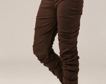 High waist Apple Ruffle Leggings - jersey leggings - yoga baggy leggings