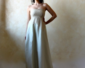 Alternative Wedding dress, Green wedding dress, Empire wedding dress, fairy wedding dress, woodland wedding dress, pagan wedding dress