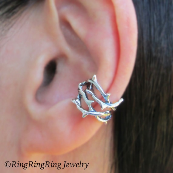 thorn ear cuff sterling silver earrings jewelry by. Black Bedroom Furniture Sets. Home Design Ideas