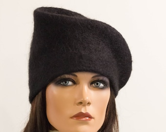 Felt hat  avant-garde  mood women felted winter artiste cozy warm autumn winterRegina Doseth handmade in EU  wool different elegant hat