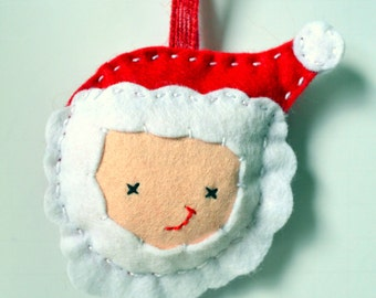 DIY Christmas Decoration Kit, Felt Decoration Kit,  DIY Sewing Kit, Make Your Own Decoration Kit, Santa Sewing Kit, Xmas decorations Kit