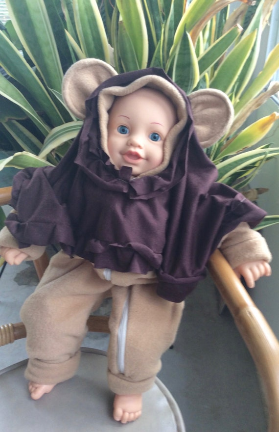baby bebop ewok costume baby onesiebodysuit fleece fabric  sc 1 st  Destiny & Baby Brown Mouse Costume