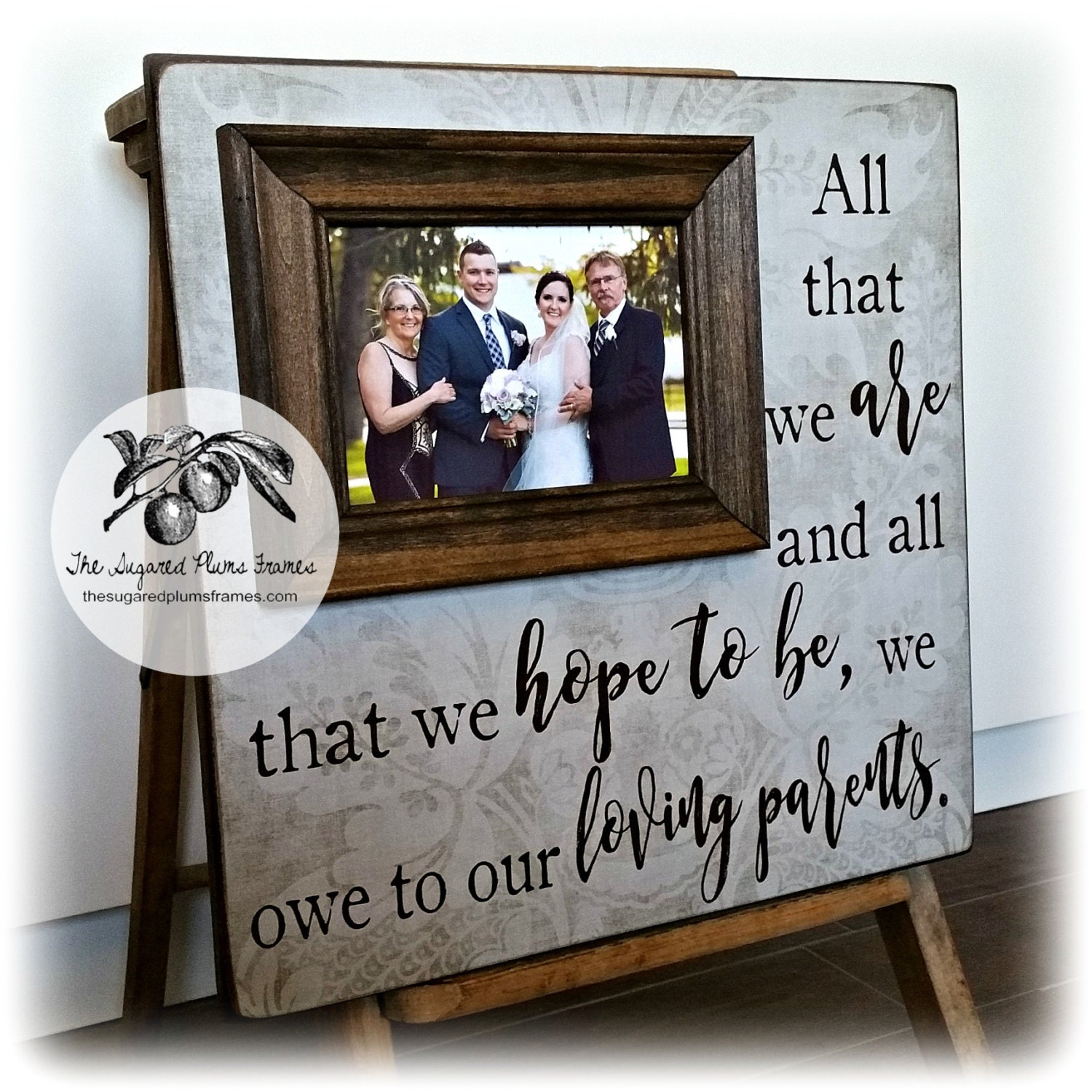 Wedding Gift for Parents Personalized Wedding Frame Mother