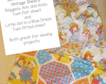 Vintage Children's Sheets-Great Fabric for Projects