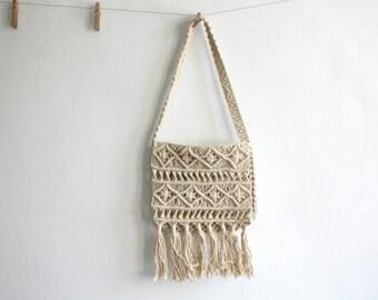 Woven Macrame Handbag
