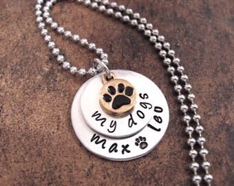 Super Sale Now Dog Jewelry, Dog Lover Jewelry, My Dogs, Personalized Dog Jewelry, Hand Stamped Jewelry, Dog Necklace, Pet Necklace, Animal J