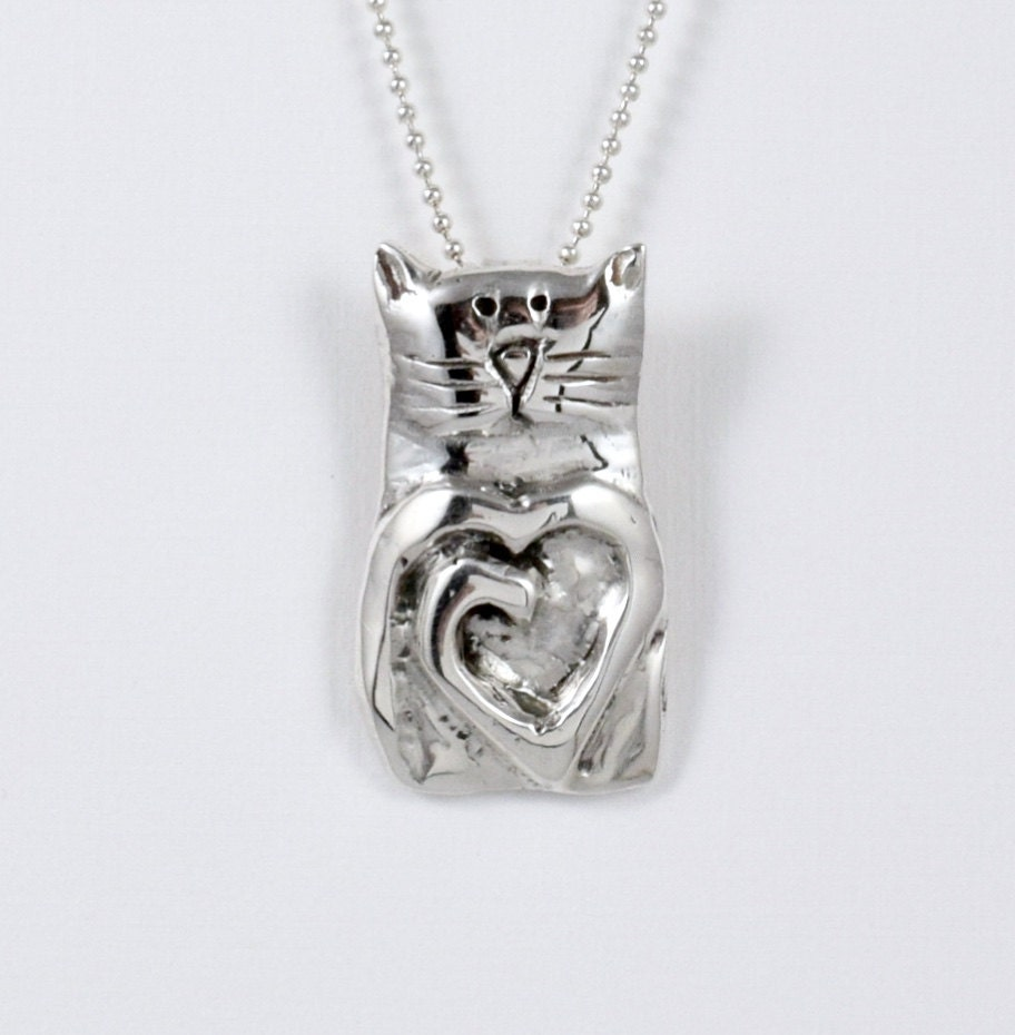 sterling silver cat jewelry cat jewelry by robinwade