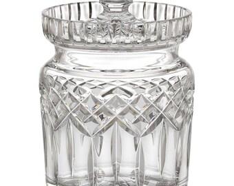 Vintage WATERFORD BISCUIT Barrel Jar LISMORE 1980 Big Sale!!