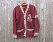 Vintage Varsity Sweater Mens Medium