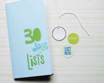 30 Days of Lists . Midori Travelers Fauxdori Notebook Sketchbook Jotter Refill Insert . Art Journal Agenda . Listing List Listers Challenge
