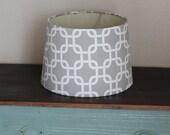 Grey Modern Medium Drum Lamp Shade