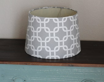 Grey Modern Medium Drum Lamp Shade