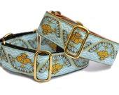 Golden Yarrow Martingale Collar (1.5 Inch), Dog Collar, Greyhound Collar, Greyhound Martingale