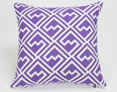 Thistle Purple Shakes Throw Pillow Cover - 16 inch