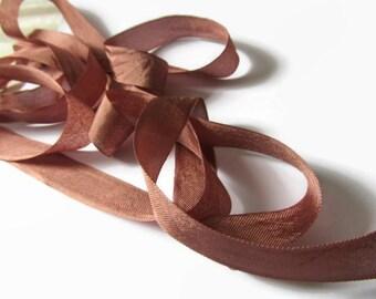 """Amber Brown Seam Binding Ribbon - Vintage Original Hug Snug - 3 / 6 / 12 Yards - DIY Shop Packaging - Gift Wrap - 1/2"""" Trim - Craft Supply"""