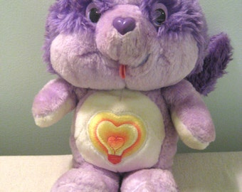 Vintage Care Bears Bright Heart Raccoon