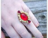 Crimson Peak - Victorian Ring - Crimson Peak Jewelry, Medieval Jewelry, Victorian Jewelry, Gothic Ring, Medieval Ring, Anne Boleyn