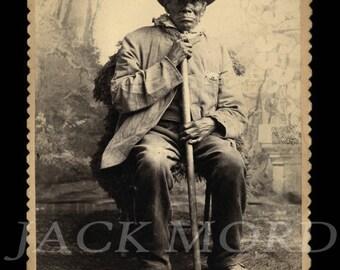 Rare Antique Cabinet Card ~ Old Native American Sioux Indian Man ~ Nebraska