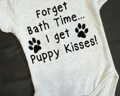 Puppy Kisses Onesie. Funny Baby Onesie. Cotton Onesies. Creeper. Baby Shower Gift. Dog Lover. Dog Sibling Baby Gift. Puppy Baby Gift.