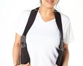 Reversible Polka Dot Holster bag/Body Wallet/ Black and White Utility Bag/ Confortable Travel Bag