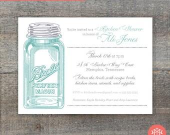 Kitchen Wedding Shower Invitation Printable File, Birthday Party, Lingerie Shower, Wedding Shower, Bridal Shower, Print at Home