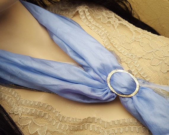 Bronze scarf ring, OOAK, SAAF06