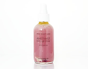 Amethyst & Moonstone Gem Water | Facial Mist with Crystals | 100% natural and vegan