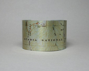 Acadia National Park Maine Cuff Bracelet Unique Hiking Gift for Men or Women